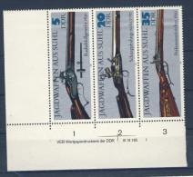 DDR Michel Nr. 2376 , 2378 , 2380 ** postfrisch DV Druckvermerk / S Zd 169