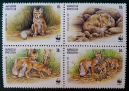 WWF - PROTECTION DE LA FAUNE - LE RENARD 1999 - NEUFS ** - YT 135/38 - MI 168/71 - Kyrgyzstan