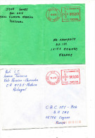 ILE MADERE MADEIRA ISLANDS  2 ENVELOPPES  FUNCHAL  / COGNAC AFFRANCHISSEMENT AUTOMATIQUE - Poland