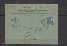 87 - St Léonard  - Octave Bachet , Notaire - 1986 - Marcophilie (Lettres)