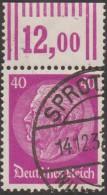 Allemagne 1933 Hindenburg 40 Pf, Y&T 495 Chiffres Comptables En Marge (W OR, WOR) - Allemagne