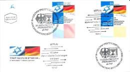 Fdc, Duitsland, Israel, Germany, Vlag, Flag - Wapenschild
