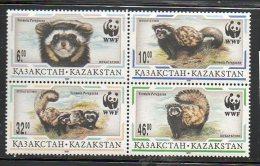 LOT 279 - KAZAKHSTAN N° 124/127**  PUTOIS  WWF - Cote 5 € - Hologrammes