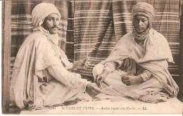 MAROC - CARTE POSTALE DE 1915 - ARABES JOUANT AUX CARTES - Morocco