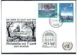 RTY08  UNO WIEN 2000  MICHL 307/08  WEISSE KARTE - White Cards - Wien - Internationales Zentrum