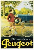 CP 140. Peugeot Paris. Usine Cycles Beaulieu-Valentigney Doubs 25. Vélo*, Bicyclette* Auto, Voiture - Advertising