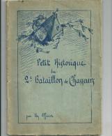 UN OFFICIER   Petit historique du 2e bataillon de chasseurs (1917-1918)