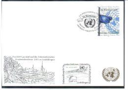 RTY09  UNO WIEN 2003  MICHL 405  WEISSE KARTE - White Cards - Wien - Internationales Zentrum