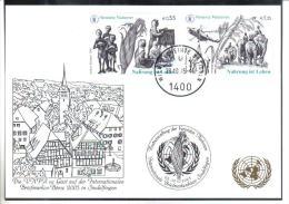 RTY10  UNO WIEN 2005  MICHL 453/54  WEISSE KARTE - White Cards - Wien - Internationales Zentrum