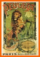 CP 141. Peugeot Paris. Usine Cycles Beaulieu-Valentigney Doubs 25. Vélo*, Bicyclette* Lion - Advertising