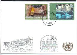 RTY12  UNO WIEN 2005  MICHL 432 +434  WEISSE KARTE - White Cards - Wien - Internationales Zentrum