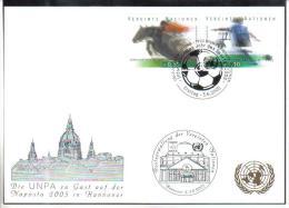 RTY13  UNO WIEN 2005  MICHL 441/42  WEISSE KARTE - White Cards - Wien - Internationales Zentrum