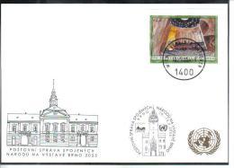 RTY14  UNO WIEN 2005  MICHL 433 Aus BLOCK   WEISSE KARTE - White Cards - Wien - Internationales Zentrum