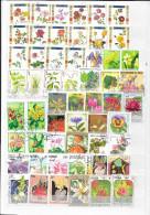 FLEURS  -  MONDE  -  LOT DE +  180  TIMBRES - Plants