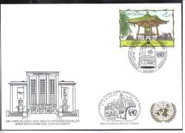 RTY16  UNO WIEN 2004  MICHL 419   WEISSE KARTE - White Cards - Wien - Internationales Zentrum