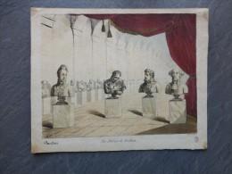 Les Salons De CURTIUS, PANDORE, (les Bustes), Très RARE LITHO Couleur XVIII ème ? ; Ref 450 - Estampes & Gravures