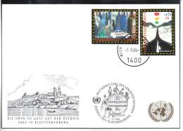 RTY17  UNO WIEN 2004  MICHL 417/18   WEISSE KARTE - White Cards - Wien - Internationales Zentrum