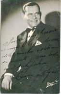 TINO FOLGAR OPERA SINGER CHANTEUR D´OPÉRA TENOR AUTOGRAPH AUTOGRAPHE CASA FOTO F.BIXIO, ARGENTINA RARISSIME GECKO - Autographs