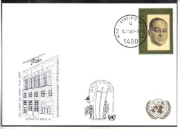 RTY18  UNO WIEN 2003  MICHL 395   WEISSE KARTE - White Cards - Wien - Internationales Zentrum