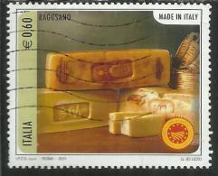 ITALIA REPUBBLICA ITALY REPUBLIC 2011 MADE IN ITALY FORMAGGI DOP RAGUSANO FORMAGGIO USATO USED OBLITERE´ - 6. 1946-.. Republic