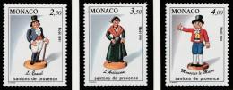 "Monaco 1991 - ""Noël : Santons De Provence III""  - Timbres Yvert & Tellier N° 1794 à 1796. - Monaco"