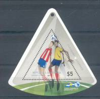 COPA AMERICA ARGENTINA 2011 - PARAGUAY - ECUADOR  BLOC MNH TBE NEUVE NUEVA FOOTBALL FUTEBOL BALOMPIE FUTBOL