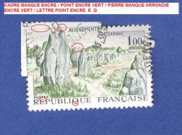VARIETES FRANCE ANNEE 1965   N° 1440  ALIGNEMENTS DE CARNAC   OBLITERE 3 SCANNE DESCRIPTION - Abarten Und Kuriositäten