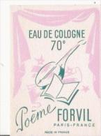 "FORVIL CARTE PARFUMEE ANCIENNE ""POEME"" - Perfume Cards"