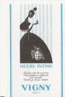 VIGNY PARIS CARTE PARFUMEE ANCIENNE 'HEURE INTIME ' - Perfume Cards