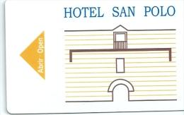 Llave Card Karte Clef Hotelkarte Keycard  HOTEL SAN POLO - Hotel Labels
