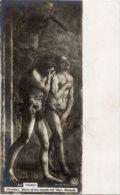 Firenze - Cartolina ADAMO ED EVA CACCIATI Dall'EDEN Di MASACCIO - OTTIMA H34 - Pittura & Quadri