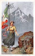 [DC5237] CARTOLINA - LEGA NAZIONALE DELLE SEMINATRICI CORAGGIO - SEZIONE DI SALUZZO - Viaggiata 1918 - Old Postcard - Patrióticos