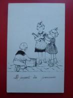 LE PAQUET DU PRISONNIER STYLE BOURET Dessin Original Encre - Illustratori & Fotografie