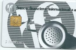 CUBA Phonecard Banco Financiero Internacional - Bank - Cuba