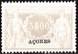 AÇORES-1921-1923, (ENCOMENDAS POSTAIS) Comércio E Indústria. C/ Sobrecarga.«AÇORES» 3$00 **MNH Afinsa Nº 14 - Azores
