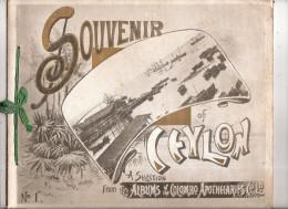 Livret 10 Photographies Souvenir Of  Ceylon N°1 Colombo Apothecaries Sri Lanka  Usine De Thé Factory Pettah Mutwal - Photographie