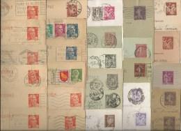 Lot De 28 Entiers Postaux Ayant Circulé - Collections & Lots: Stationery & PAP