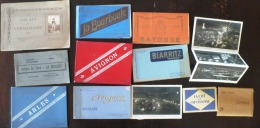 LOT De 11 Carnets CARTES POSTALES FORMAT CPA Et Cartes Modernes (voir Scan) - 100 - 499 Cartes