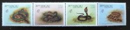 MACAU Reptiles, Philexfrance 82. Yvert N° 59/62. **. MNH - Serpents
