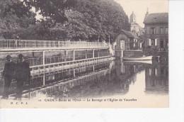 VAUCELLES (14-Calvados), CAEN, Bords De L´Orne, Le Barrage Et L´Eglise De Vaucelles, Barque, Ed. MCFL, 1915, Cassigneux, - Autres Communes