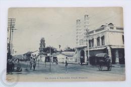 Old Singapore Postcard - The Hindoo & Mohamedan Temple - Singapur