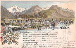 (BE) Gruss Aus Interlaken - 1899 - Bon état - 2 SCANS - BE Berne