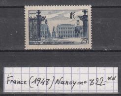 France (1948) Nancy Place Stanislas Y/T N° 822 Neuf ** à 15% De La Cote - Francia