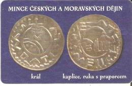 TARJETA DE LA REPUBLICA CHECA CON UNA MONEDA  (COIN) - Sellos & Monedas