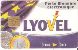 TARJETA DE FRANCIA CON UNA MONEDA  (COIN) LYOVEL - Sellos & Monedas