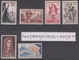 France (1953-55) Y/T N° 941/942/943/944 + 1008/1009 Neufs ** à 15% De La Cote - Francia