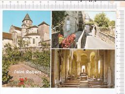 SAINT  ROBERT   -   3 Vues   :   Eglise  -  Porte De La Ville  -  Eglise  -  Christ - France