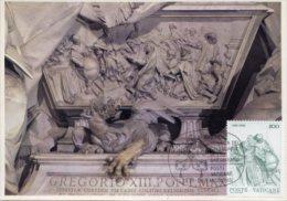 Roma - Cartolina C. RUSCONI PAPA GREGORIO XIII, 4° Centenario Riforma Calendario Gregoriano + Francobollo - PERFETTA H34 - Sculture