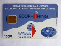 FRANCE TELECARTE Phonecard Publique ECOPHONING Economat De L´armee Militaire SFOR1 150FF Ut. Côte 28 TB - Esercito