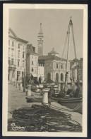 SLOVENIA PIRAN PIRANO OLD POSTCARD STAMP STT VUJNA 1954 PORTOROZ PORTOROSE - Slovenia